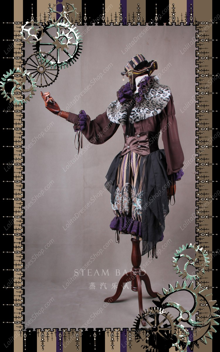 Sweet Steam Band Luxurious Classical Puppets Lolita Formal Hat