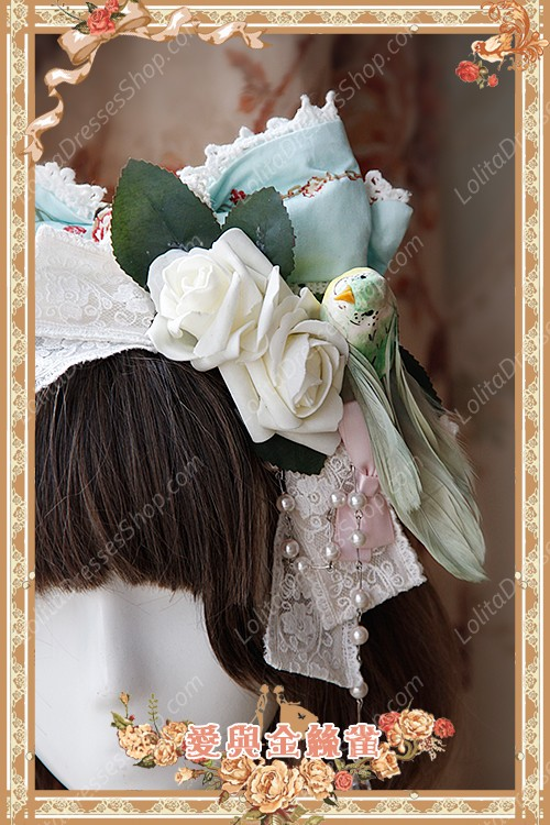 Sweet Cotten Original Printing Love & Canary Infanta Lolita Headdress Flower