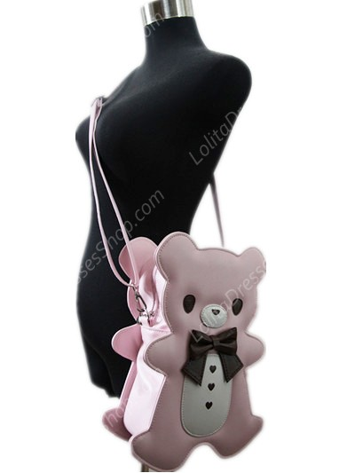 Lovely Teddy Bear Bow PU Lolita Bag