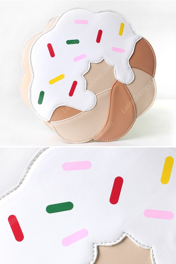 Sweet Print Cake PU Lolita Shoulder Bag
