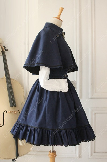 Gothic Retro Empire Cloak Fishbone Overskirt Lolita Dresses Lolita Suit