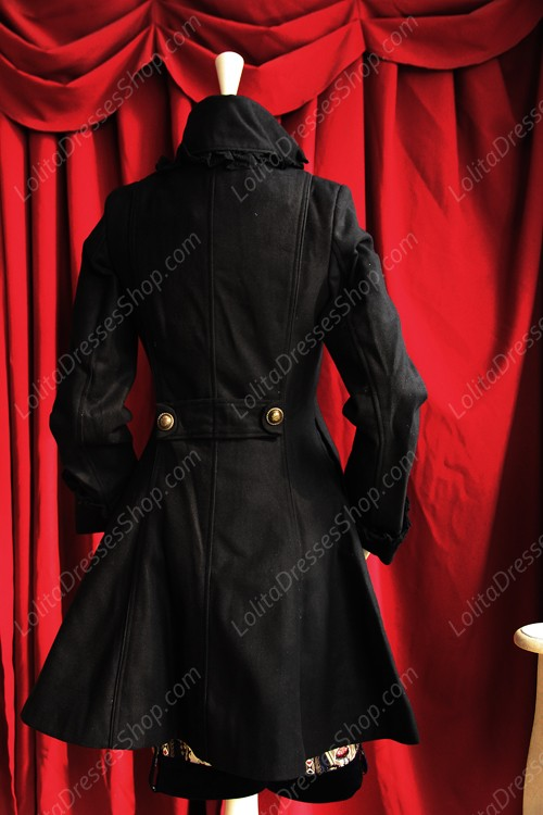 Sweet Cotten Double Breasted Faux Two Stand Collar Infanta Lolita Overcoat