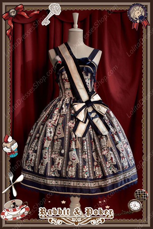 Sweet Cotten Rabbit Poker Infanta Lolita Ribbon