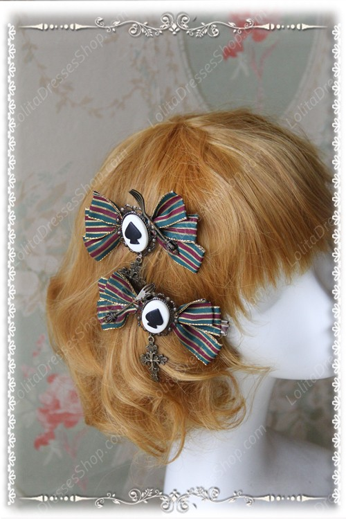 Sweet Army Green Small Infanta Lolita Hairpin