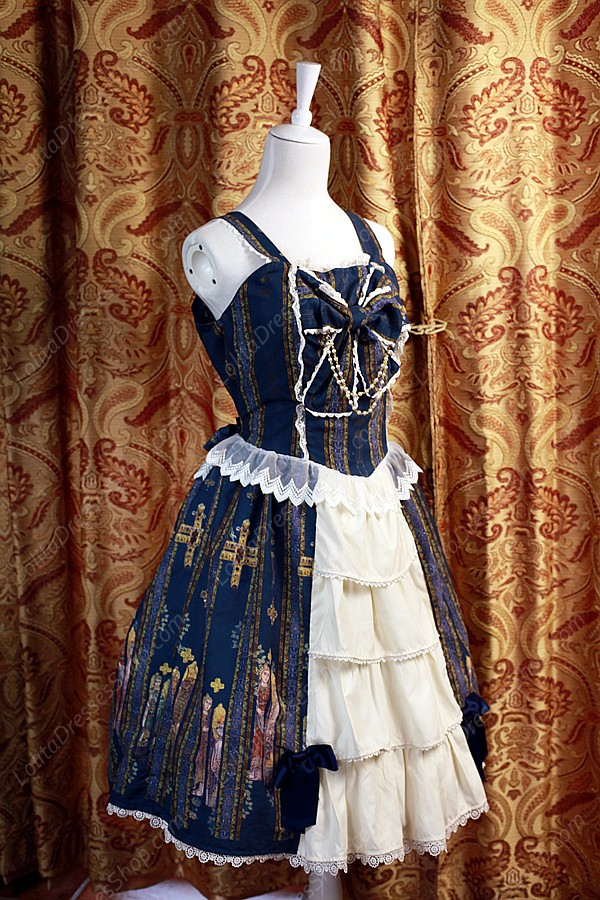 Sweet Original Religious Style Stained Glass Souffle Song Lolita Cardigan Dress