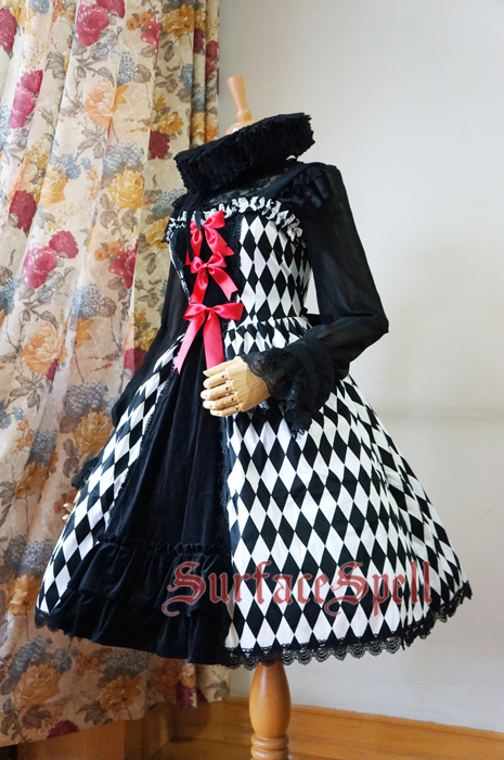 Illusion Realizer Diamond Surface Spell Splicing Tape Gothic Lolita JSK