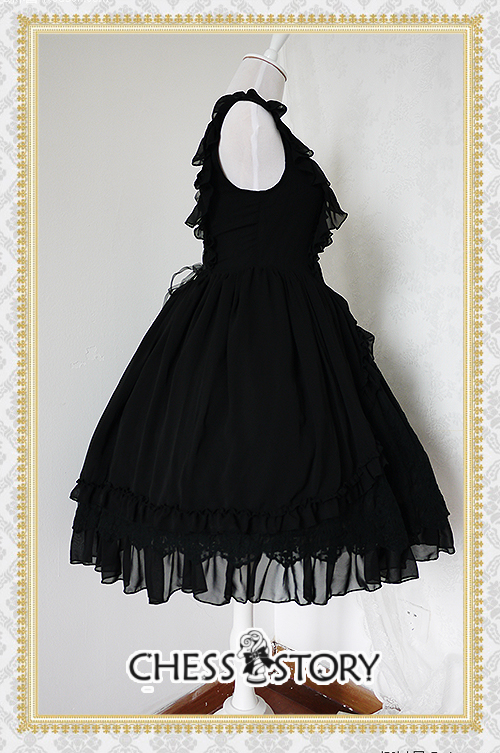 Sweet Chiffon Le Ballet Embroidery Lace Chess Story Lolita Jumper Dress