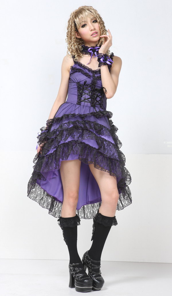 Chiffon Sling Backless Lace Cake GLP Lolita Dresses