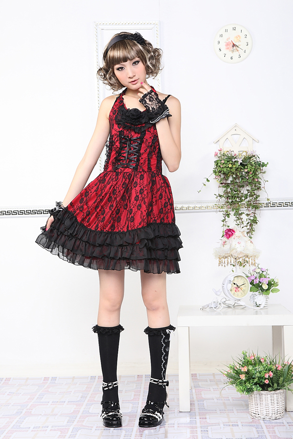 Sling Backless Lace Cake GLP Lolita Dresses