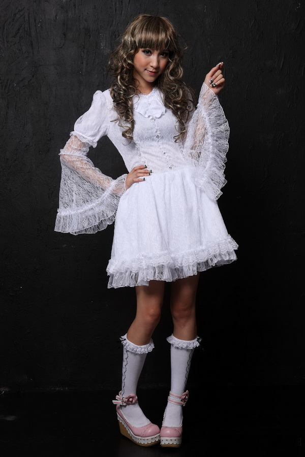 Multilayer Trumpet Sleeves Lace Princess GLP Lolita Dresses