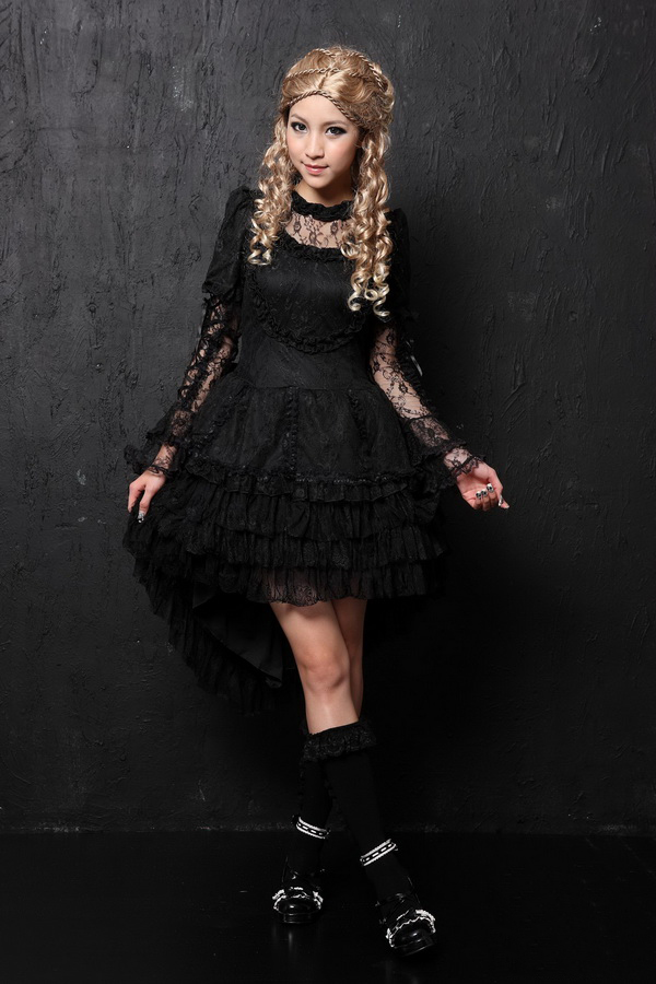 Sweet Flounced Lace Long Sleeves GLP Lolita Dresses