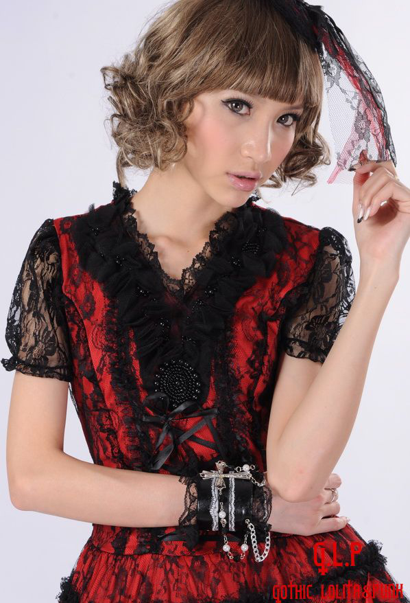 Irregular Gorgeous Flounced Bow Hollow GLP Lolita Dresses