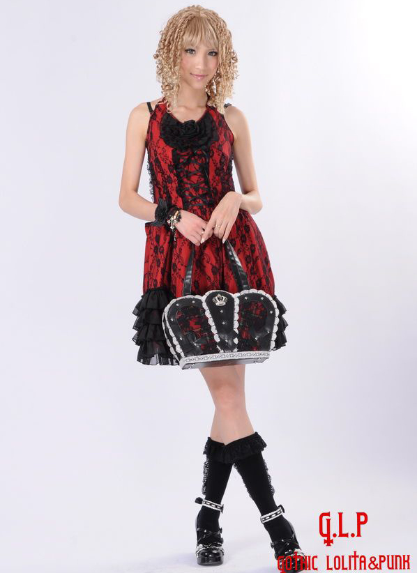 Princess Lace straps Gothic Tassel Hook Flower Hollow Waves GLP Lolita Dresses