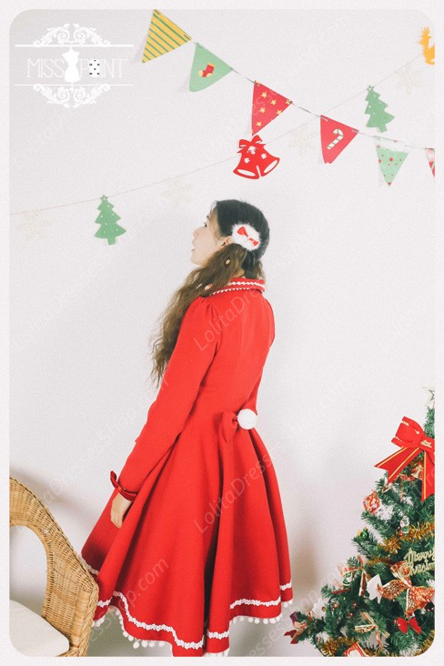 Sweet Woolen Vintage Little Red Riding Hood Fairy Tale Lovely Coat Lolita Coat