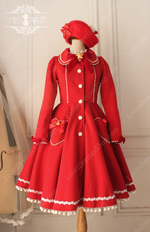 Cheap Sweet Woolen Vintage Little Red Riding Hood Fairy Tale ...
