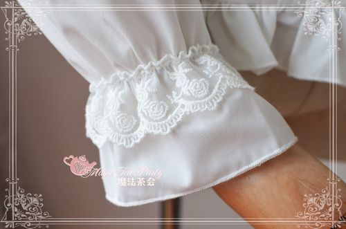 Sweet Cotten Lovely Heart Language Magic Tea Party Lolita Blouse