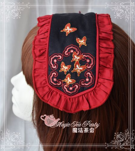Sweet Cotten Chinese Style Embroidery Magic Tea Party Lolita Hair Hoop