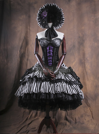 Theater Theme Elegant Classical Puppets Lolita Corset and Skirt Sets