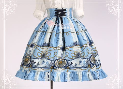 Angel Fish Embroidery Magic Tea Party Lolita SK