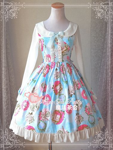 Sweet Cotten Paris Garden Magic Tea Party Lolita OP Dress