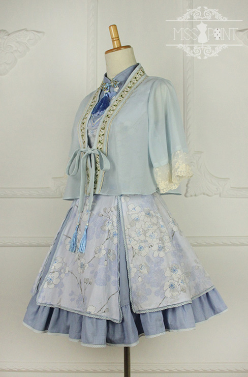 Sakura Poem Qi Miss Point Lolita Jumper Dress