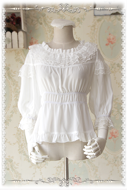 Sweet Chiffon 5 Colors Infanta Lolita Blouse
