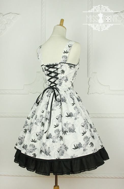 Sweet Yu Qilin Chinese Wind Stand Collar Miss Point Lolita Dress JSK