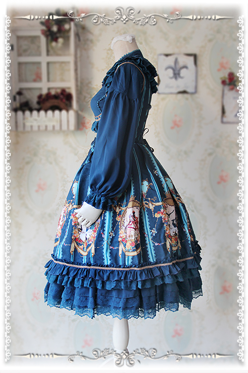 Swan Lake Lolita Corset Fishbone Infanta Jumper Dress