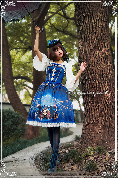 Freak Show Printed Surface Spell Lolita Jumper Dress