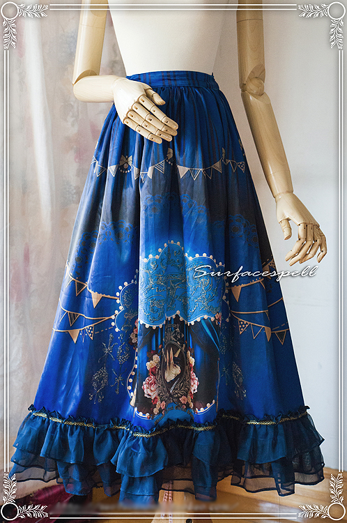 Surface Spell - Freak Show - Printed Lolita Long Skirt only