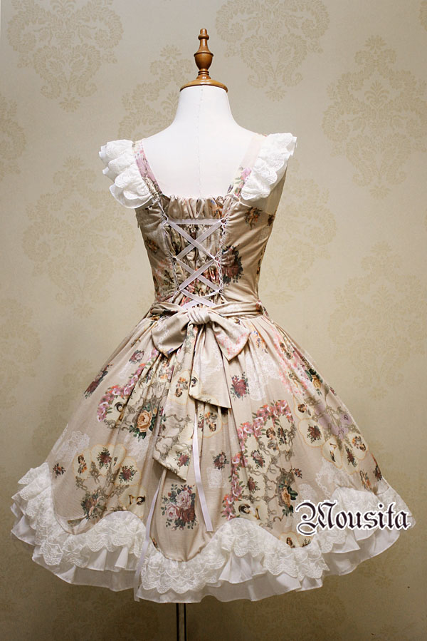 The New Angel Rose Floral Print Mousita Lolita Dress
