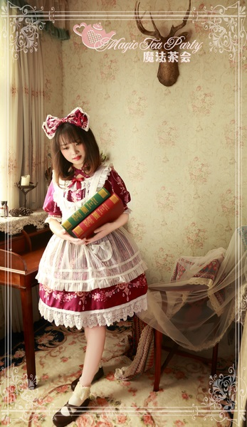 Flower fairy Magic Tea Party Lolita Match Apron