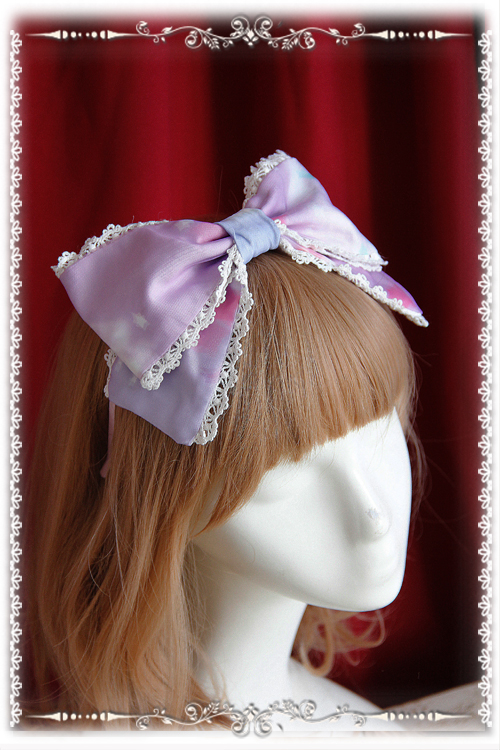 Rainbow Cotton Candy Sweet Infanta Lolita Headbow