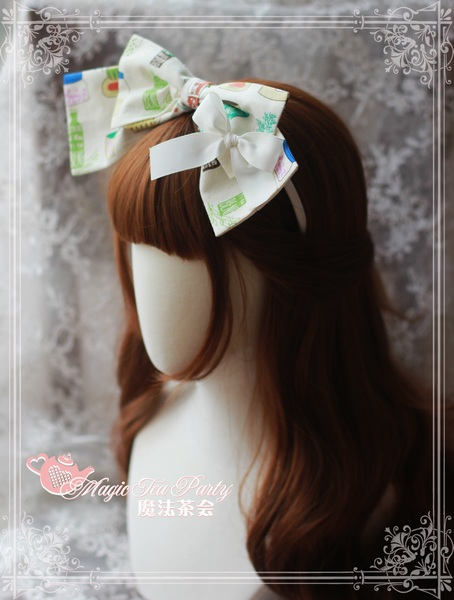 Sweet Life Printed Magic Tea Party Lolita Headbow