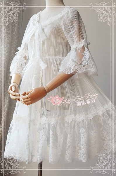 Summer Fragrance Lace Hime Sleeves Magic Tea Party Lolita Surface Layer Dress