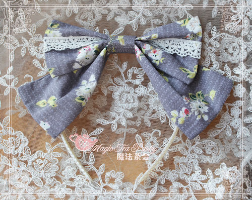 Summer Fragrance Lace Hime Sleeves Magic Tea Party Lolita Headbow
