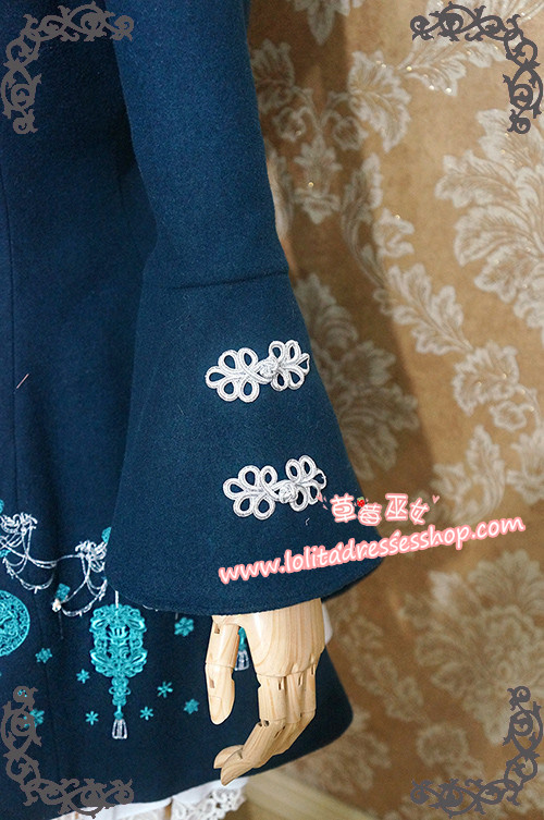 LOLITA Original Elements Of Chinese Jade Embroidery Strawberry Witch Lolita Dress Coat