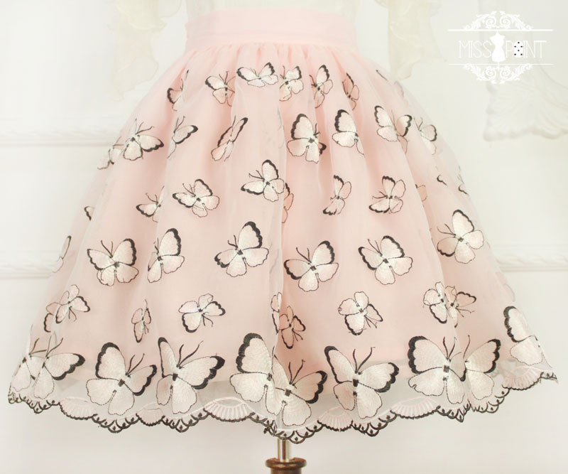 Dream of the Butterfly Sweet Babydoll Style Embroidery Miss Point Lolita Pettiskirt