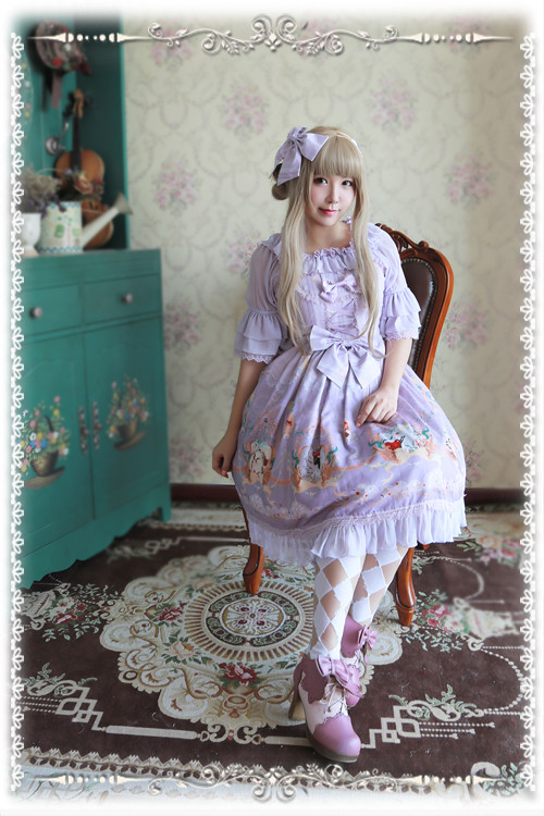 The Little Mermaid Infanta Lolita Printed JSK