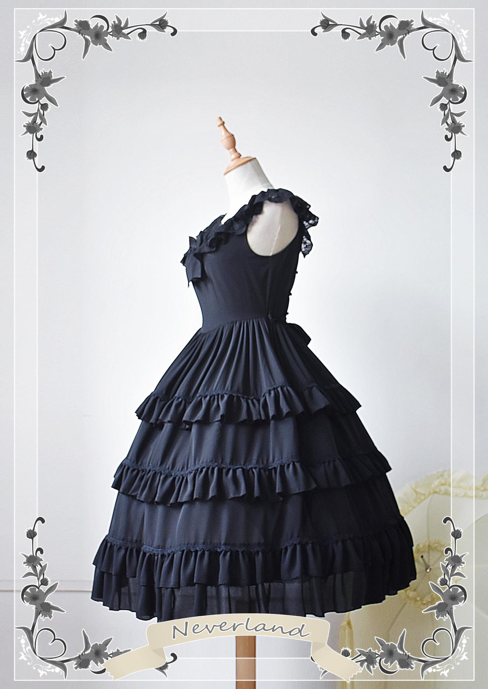Colorful Fairy Tales Chiffon Tailored Neverland Lolita Jumper Dress