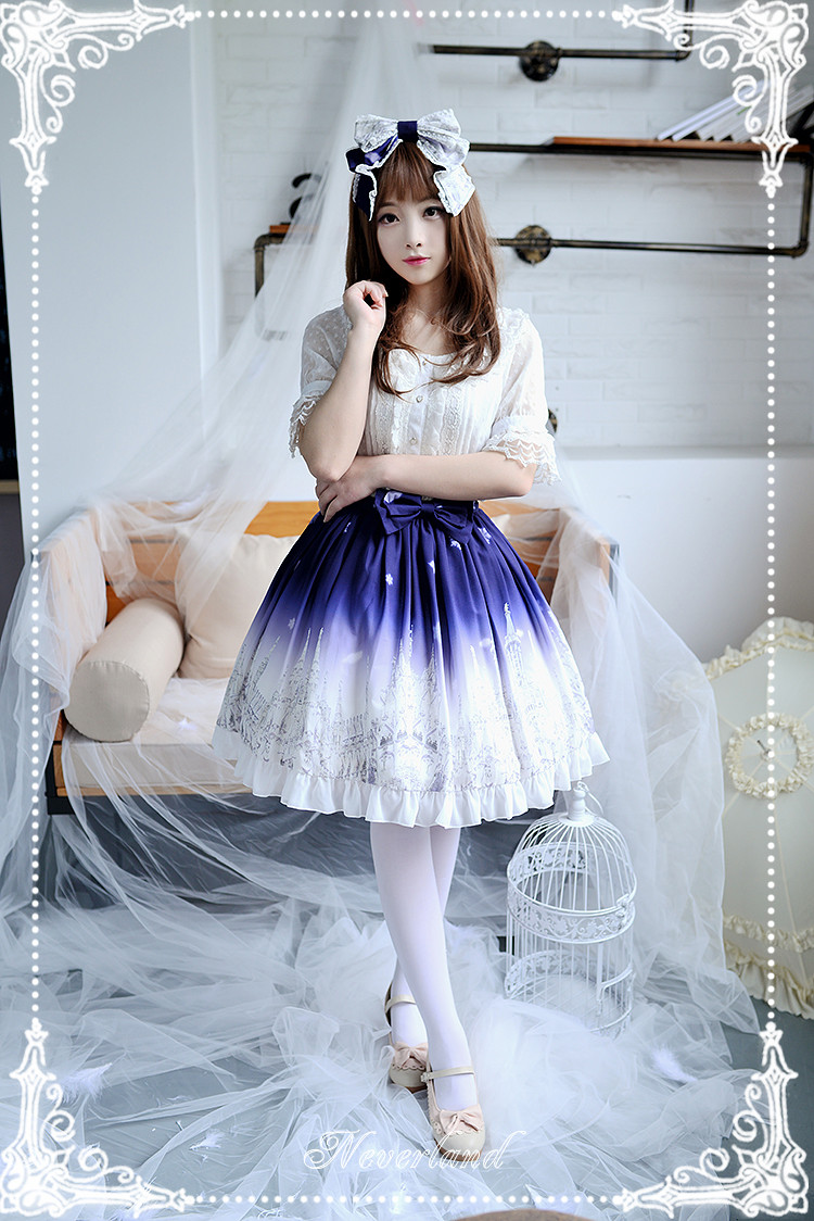 Angels Feather Neverland Lolita Normal Waist Skirt
