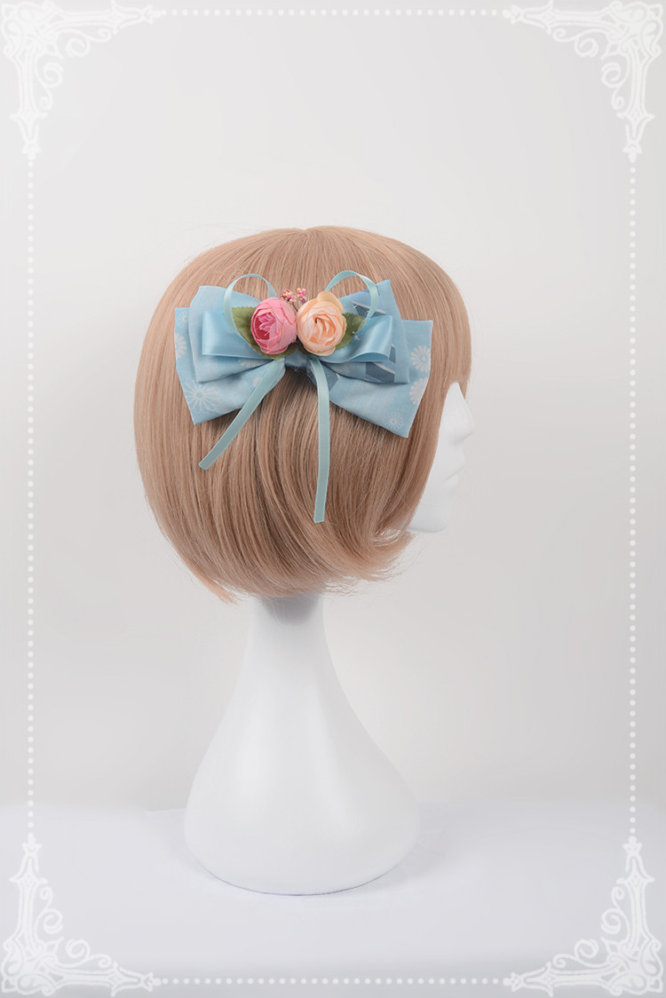 Chinese Cats Garden Party Neverland Lolita Hairclip with lace