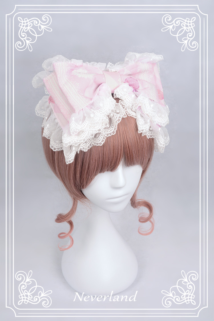 Perfume of Hydrangea Neverland Lolita Headbow with Lace