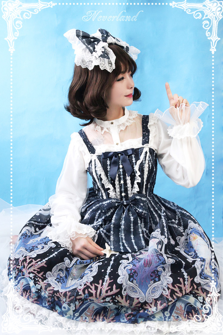 Crystal Palace High Waist Neverland Lolita JSK Dress