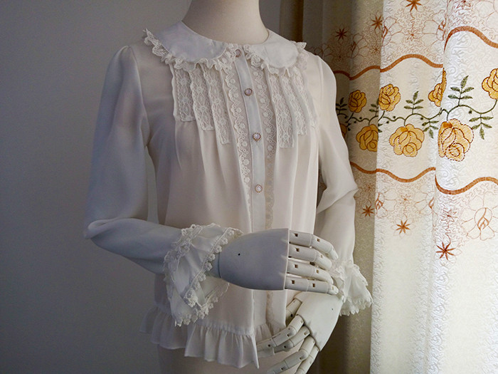 Original New Doll Collar Long Sleeved Chiffon Princess Lolita Blouse