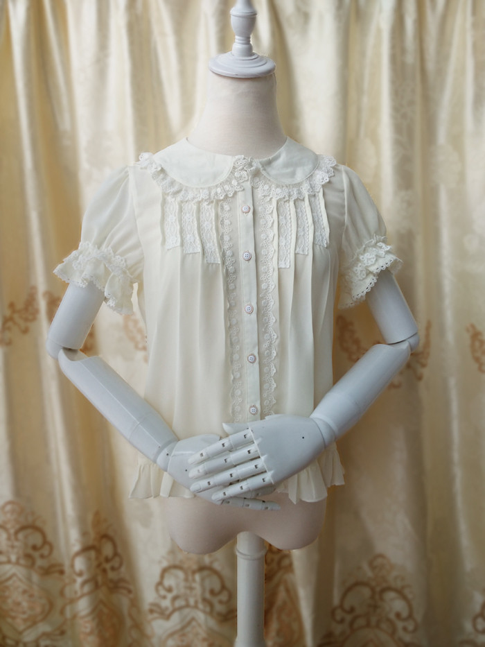 Original Doll Collar Short Sleeved Chiffon Princess Lolita Blouse