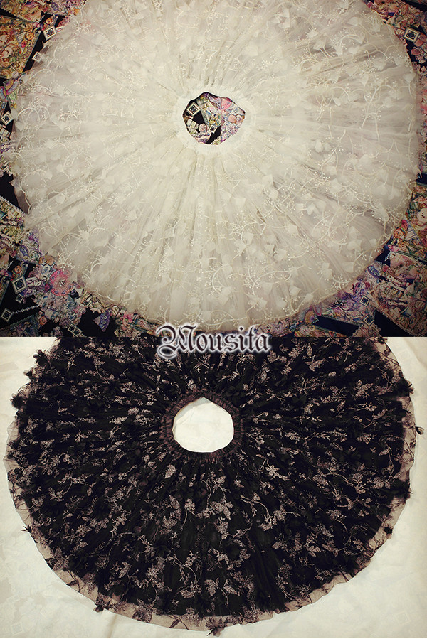 Beautiful Floral Embroidery Mousita Lolita Skirt Petticoat