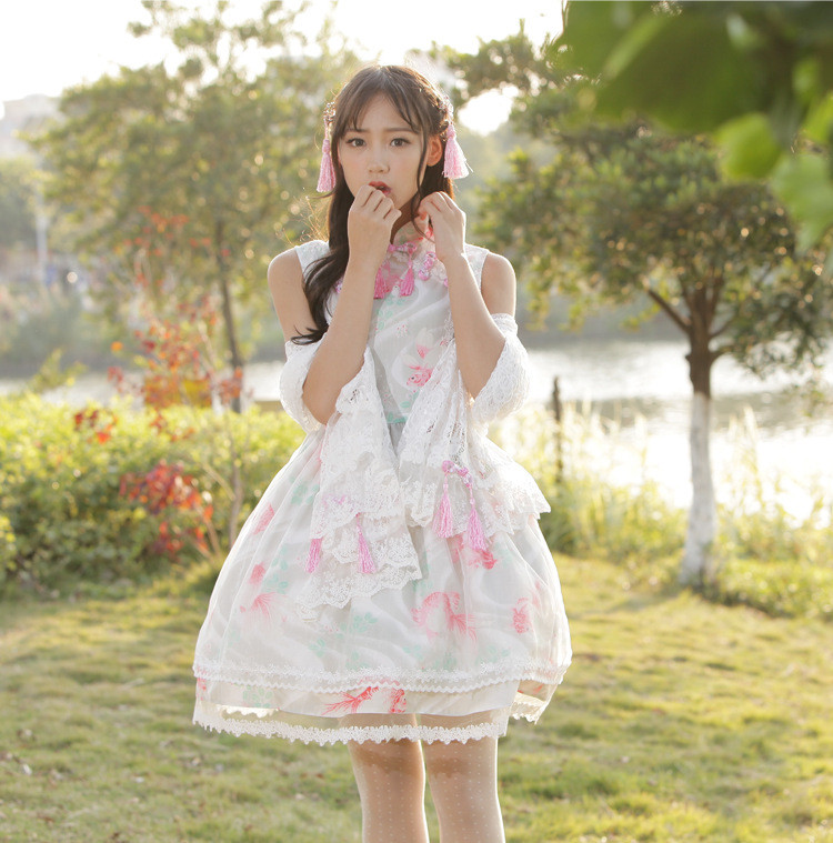 Fish Dream Classic Chinese Style Lolita Dress