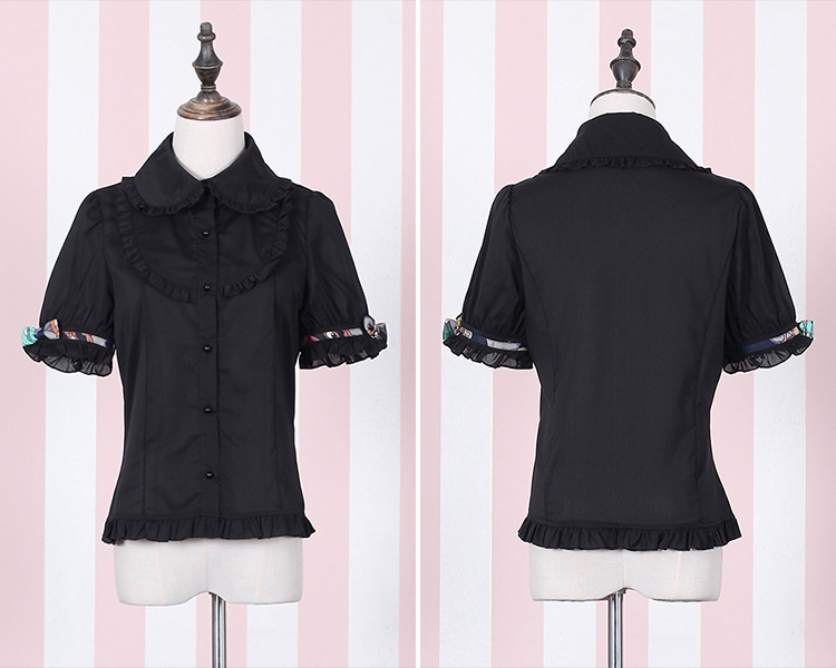 Black And White Lolita Blouses