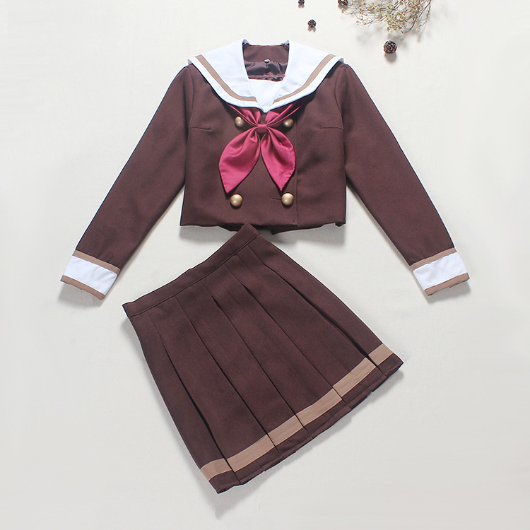 Japanese Student Uniform Sailor Suit Lolita Jacket and Skirt